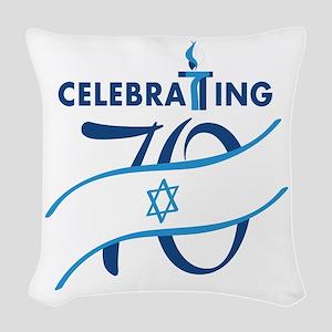 Celebrating 70! Woven Throw Pillow