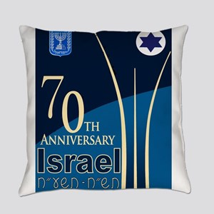 Israel At 70 Hebrew Everyday Pillow