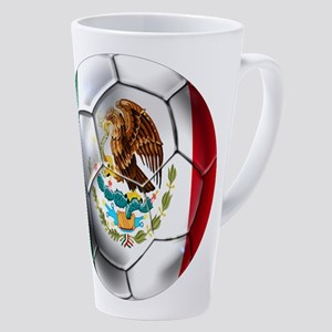 Mexican Soccer Ball 17 Oz Latte Mug