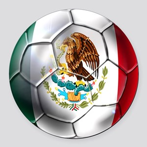 Mexican Soccer Ball Round Car Magnet