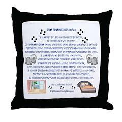 The Elephant Poem Throw Pillow