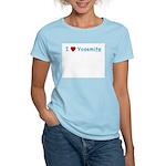 I Love Yosemite Blue - Women's Pink T-Shirt