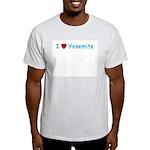 I Love Yosemite Blue - Ash Grey T-Shirt