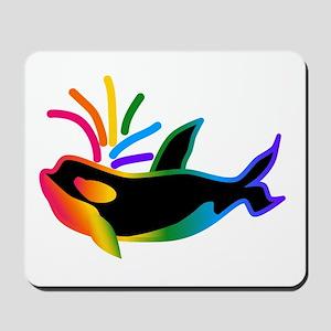 Rainbow Orca Mousepad