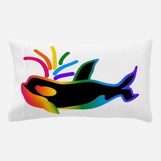 Rainbow Orca Pillow Case