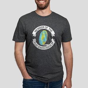Flat Earth Society Mens Tri-blend T-Shirt