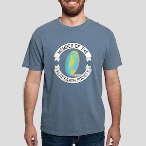 Flat Earth Society Mens Comfort Colors Shirt