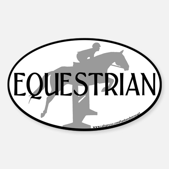 Hunter Jumper O/F (Equestrian text) Oval Decal