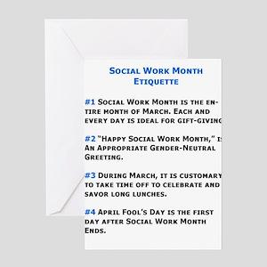 Social Work Etiquette Greeting Cards