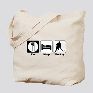 Eat. Sleep. Hockey. Tote Bag