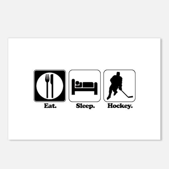 Eat. Sleep. Hockey. Postcards (Package of 8)