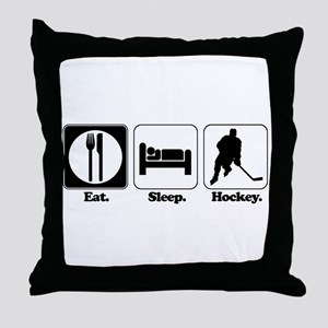 Eat. Sleep. Hockey. Throw Pillow