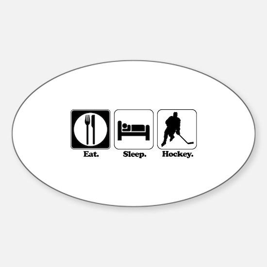 Eat. Sleep. Hockey. Oval Decal