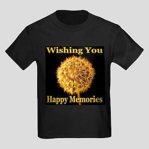 Wishing You Happy Memories Kids Dark T-Shirt