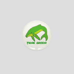 Think Green Whale Mini Button