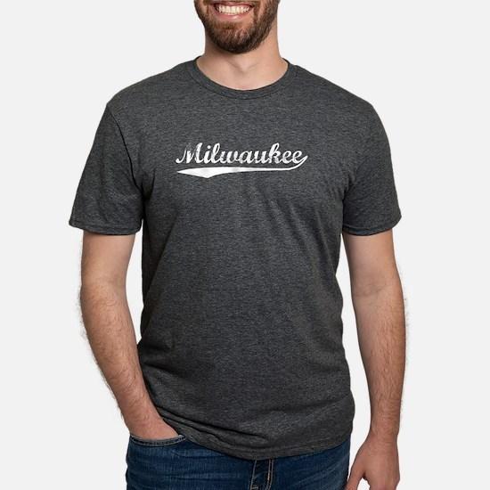 Vintage Milwaukee (Silver) Women's Dark T-Shirt