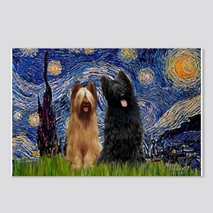 Starry Night & Briard Pair Postcards (Package of 8