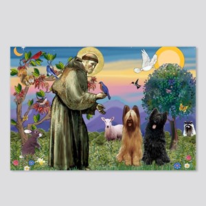 St Francis & Briard Pair Postcards (Package of 8)