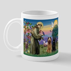 St Francis & Briard Pair Mug