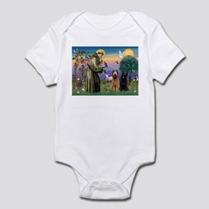 St Francis & Briard Pair Infant Bodysuit