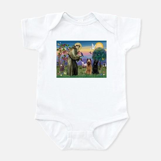 St Francis & Briard Pair Infant Bodysuit