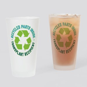 Recycled Parts Inside Drinking Glass