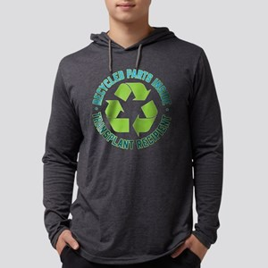 Recycled Parts Inside Mens Hooded Shirt