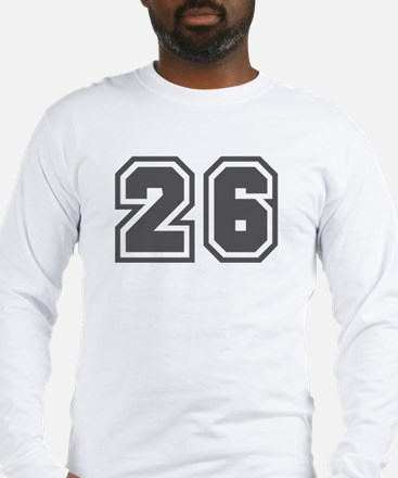 Number 26 Long Sleeve T-Shirt