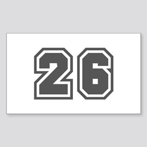 Number 26 Rectangle Sticker