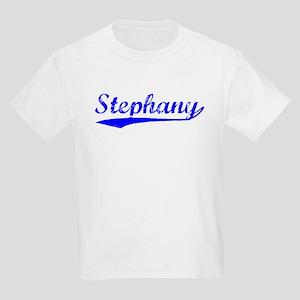 Vintage Stephany (Blue) Kids Light T-Shirt