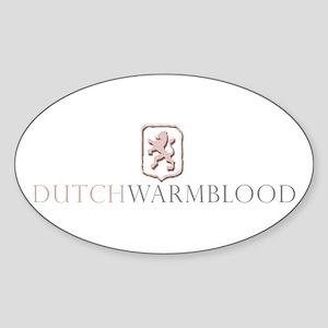 Dutch Warmblood Oval Sticker