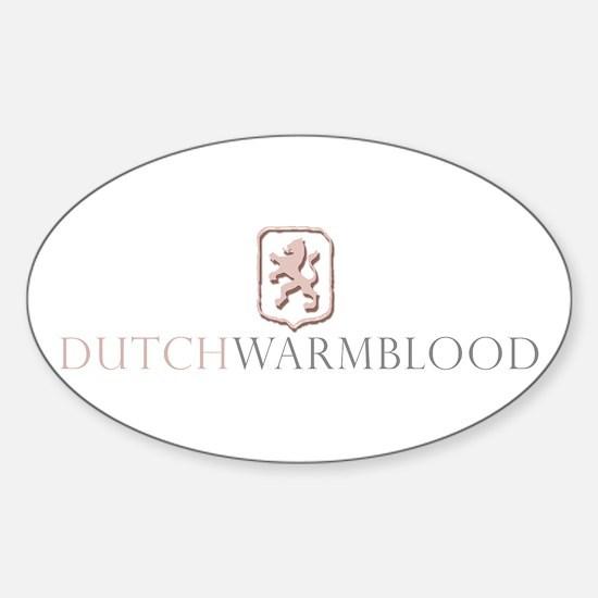 Dutch Warmblood Oval Decal
