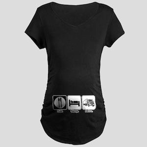 Eat. Sleep. Drive. (Truck Driver) Maternity Dark T