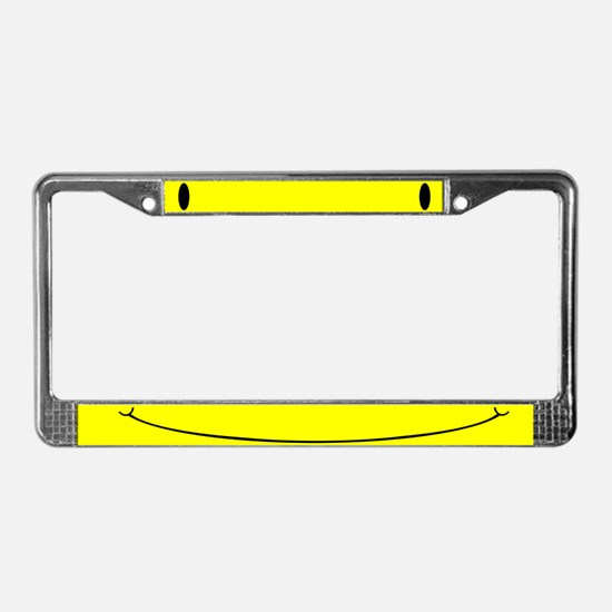 Smiley Face Have a Nice Day License Plate Frame