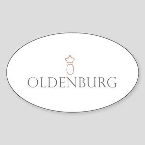 Oldenburg Horse Oval Sticker