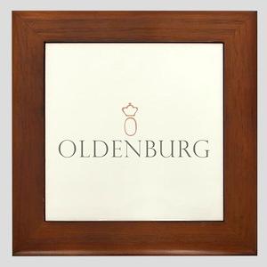 Oldenburg Horse Framed Tile