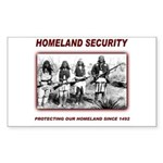 Homeland Security Native Pers Rectangle Sticker 1