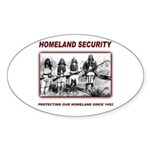 Homeland Security Native Pers Oval Sticker (10 pk)
