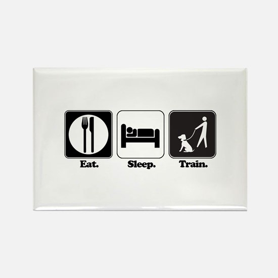 Eat. Sleep. Train. (Dog Trainer) Rectangle Magnet