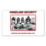Homeland Security Native Sticker (Rectangle 50 pk)