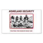 Homeland Security Native Sticker (Rectangle 10 pk)