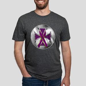 Pancreatic Cancer Iron Cross T-Shirt