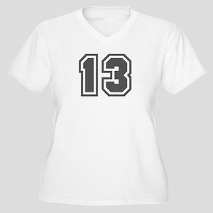 Number 13 Women's Plus Size V-Neck T-Shirt