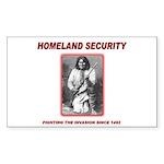 Homeland Security Geronimo Rectangle Sticker 50 p