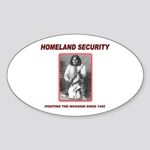 Homeland Security Geronimo Oval Sticker (10 pk)