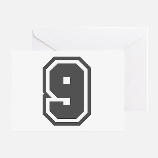 Number 9 Greeting Card