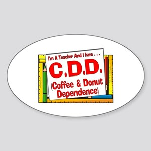 C&DD! (Red) Oval Sticker