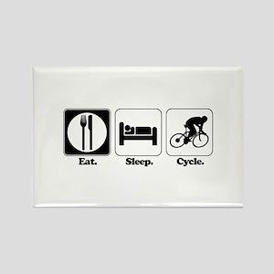 Eat. Sleep. Cycle. (Cycling) Rectangle Magnet