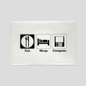 Eat. Sleep. Compute. Rectangle Magnet