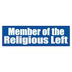 RELIGIOUS LEFT vinyl Bumper Sticker